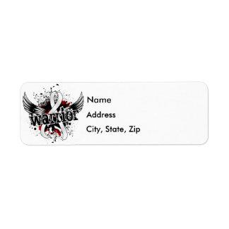 Warrior 16 Bone Cancer Label