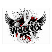 Warrior 16 Bone Cancer Postcard