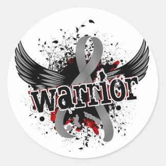 Warrior 16 Brain Cancer Classic Round Sticker