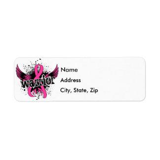Warrior 16 Breast Cancer Label