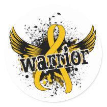 Warrior 16 Childhood Cancer Classic Round Sticker