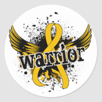 Warrior 16 Childhood Cancer Classic Round Sticker