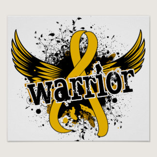 Warrior 16 Childhood Cancer Poster