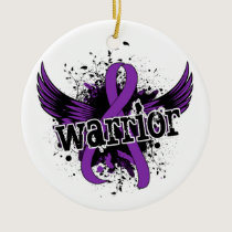 Warrior 16 Crohn's Disease Ceramic Ornament