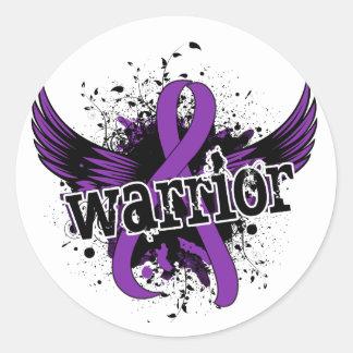 Warrior 16 Crohn's Disease Classic Round Sticker