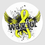Warrior 16 Endometriosis Classic Round Sticker