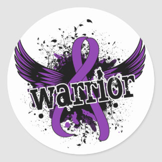 Warrior 16 Fibromyalgia Classic Round Sticker