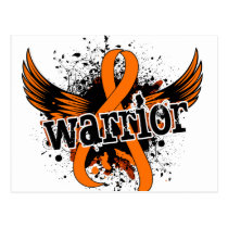 Warrior 16 Kidney Cancer Postcard