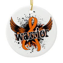 Warrior 16 Leukemia Ceramic Ornament