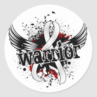 Warrior 16 Lung Cancer Classic Round Sticker