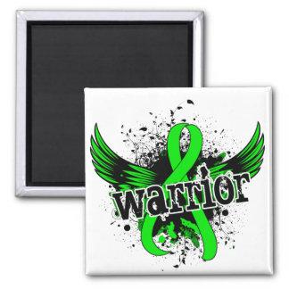 Warrior 16 Lyme Disease 2 Inch Square Magnet