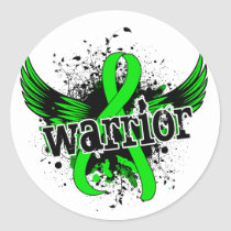 Warrior 16 Non-Hodgkin's Lymphoma Classic Round Sticker