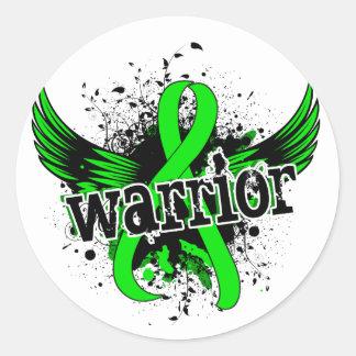 Warrior 16 Non-Hodgkin's Lymphoma Classic Round Sticker