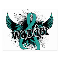 Warrior 16 Ovarian Cancer Postcard