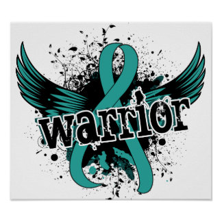 Warrior 16 Ovarian Cancer Print