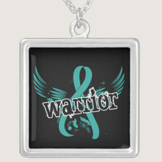 Warrior 16 Ovarian Cancer Silver Plated Necklace