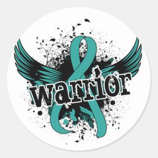 Warrior 16 PCOS Classic Round Sticker