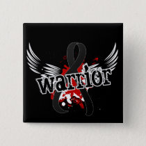 Warrior 16 Skin Cancer Pinback Button