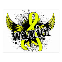 Warrior 16 Testicular Cancer Postcard