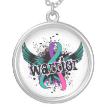 Warrior 16 Thyroid Cancer Silver Plated Necklace