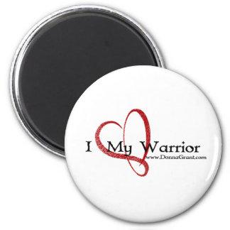 Warrior 2 Inch Round Magnet