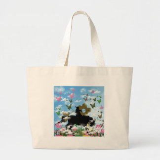 Warrior and butterfly jumbo tote bag