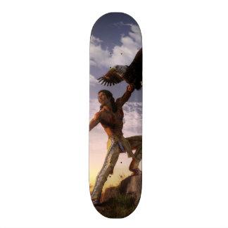 Warrior and Eagle Skateboard Deck