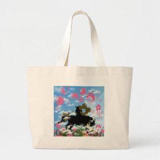 Warrior and flower jumbo tote bag