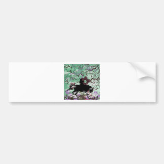 Warrior and flower car bumper sticker