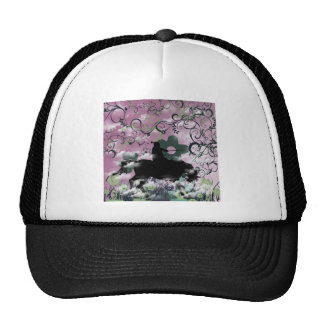 Warrior and flower trucker hat
