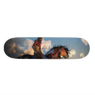 Warrior and War Horse Custom Skateboard