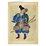 Warrior archer Ukiyo-e. Cards