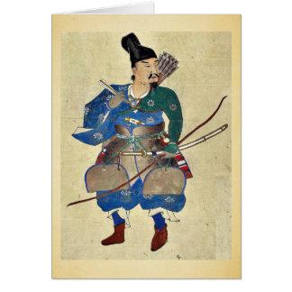 Warrior archer Ukiyo-e. Greeting Card