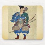 Warrior archer Ukiyo-e. Mousepad