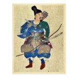 Warrior archer Ukiyo-e. Postcard
