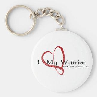 Warrior Basic Round Button Keychain