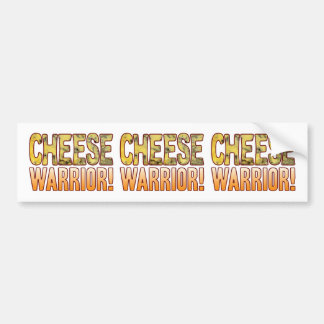 Warrior Blue Cheese Bumper Sticker