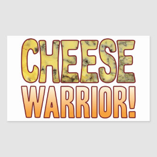Warrior Blue Cheese Rectangular Sticker