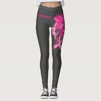 Warrior Breast Cancer Awareness leggings