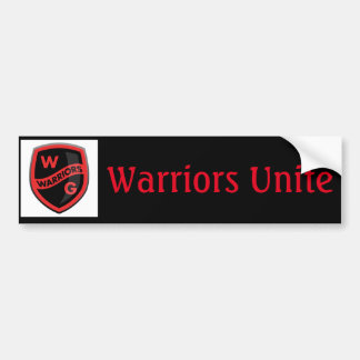 Warrior Bumper Sticker Car Bumper Sticker