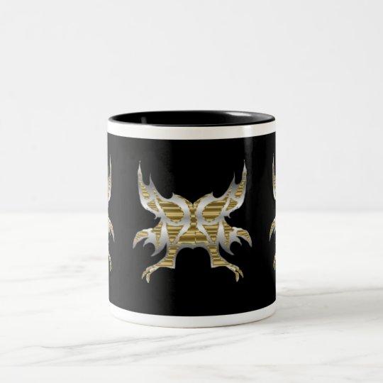 Warrior Butterfly Two-Tone Coffee Mug