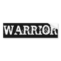 Warrior Cancer Bumper Sticker