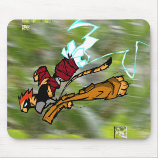 WARRIOR CAT IN THE WILD MOUSE PAD