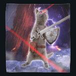 """warrior cats - knight cat - cat laser bandana<br><div class=""""desc"""">, cat warriors , &quot;cat knight&quot; , pet , cat , kittens , kitty , &quot;funny cats&quot; , &quot;kitty cat&quot; , &quot;crazy cat&quot; , &quot;laser cat &quot;</div>"""