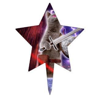 warrior cats - knight cat - cat laser cake topper