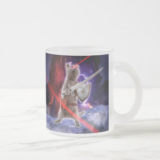 warrior cats - knight cat - cat laser frosted glass coffee mug