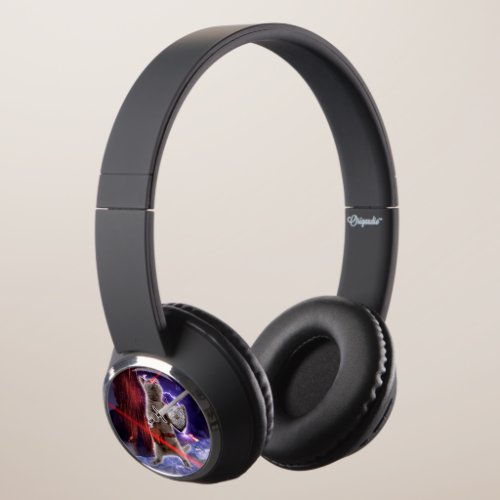 warrior cats - knight cat - cat laser headphones