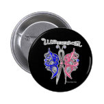 Warrior Celtic Butterfly - Male Breast Cancer Pinback Button