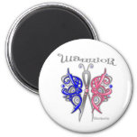 Warrior Celtic Butterfly - Male Breast Cancer Refrigerator Magnet