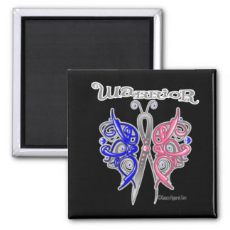 Warrior Celtic Butterfly - Male Breast Cancer 2 Inch Square Magnet